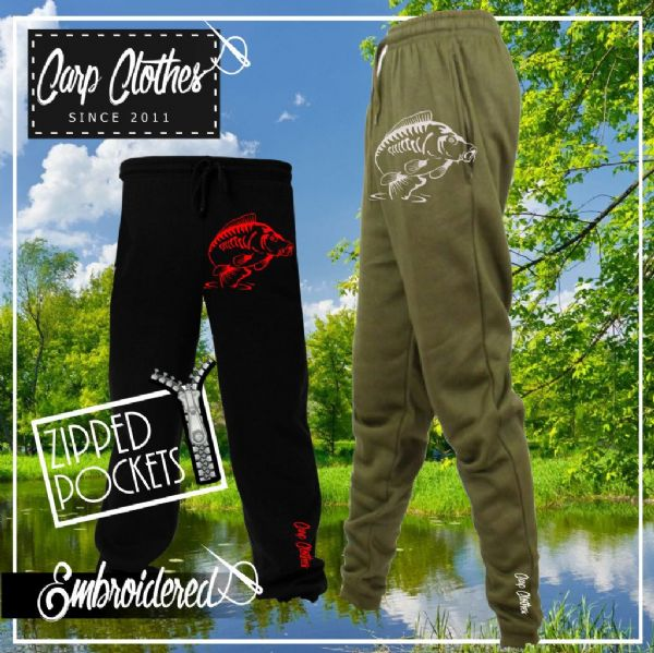 014 EMBROIDERED CARP JOGGERS